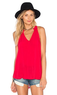Split Back Halter in Scarlet Sunset