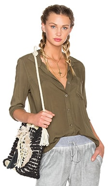 Bella Dahl Pocket Button Down in Jasper Stone