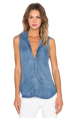 Bella Dahl Sleeveless Button Up Tank in Weathered Wash