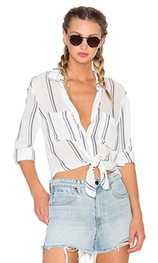 Bella Dahl Hipster Shirt in Navy & White