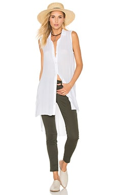 High Low Tunic in White