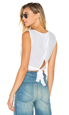 Bella Dahl Tie Back Tank in White