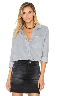 Shirt Tail Button Down in Stone Grey