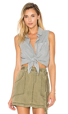 Bella Dahl Seams Back Tank in Stone Grey