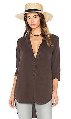 Bella Dahl Pocket Tunic in Dark Roast