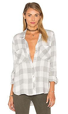Reston Flannel Check Button Down in Stone Heather
