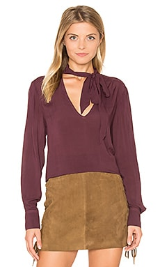 Neck Tie Top in Spiced Berry