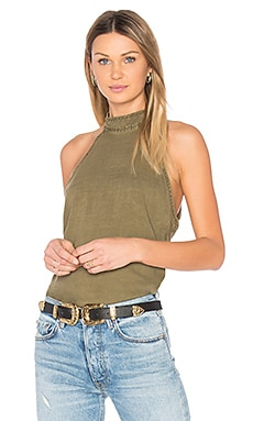 Button Back Halter en Clover