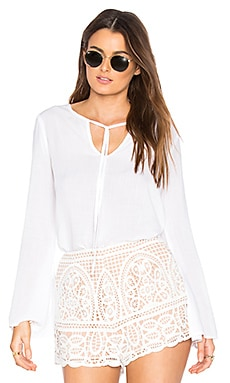 Tie Neck Blouse in White