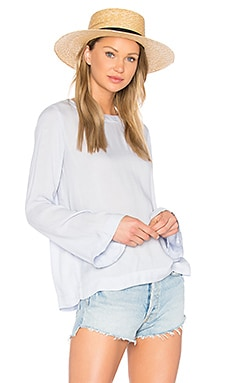 Bell Sleeve Tie Back Top