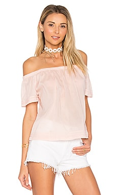 Pintuck Off Shoulder Top