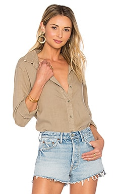 Fray Hem Button Down