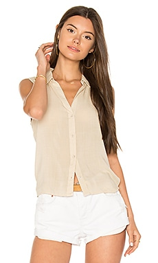 Button Down Tie Back Top