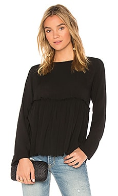 Ruffle Button Back Top