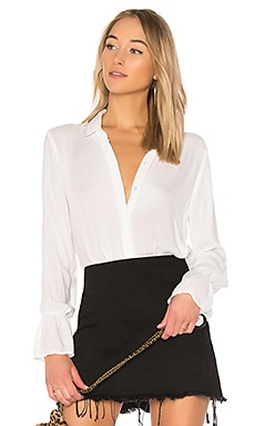 Ruffled Back Collared Shirt