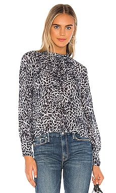 Mock Neck Button Back Blouse Bella Dahl $128