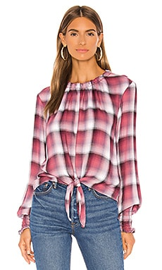 Long Sleeve Tie Front Smocked Top Bella Dahl $136