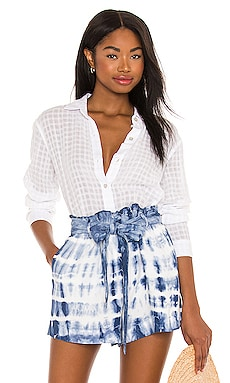 Shadow Check Relaxed Button Down Bella Dahl $141 BEST SELLER