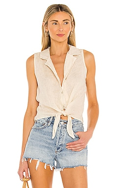 Sleeveless Tie Front Top Bella Dahl $110 NEW