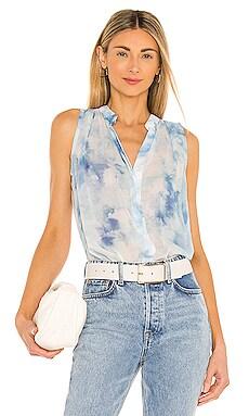 Sleeveless Pleat Blouse Bella Dahl $97 NEW