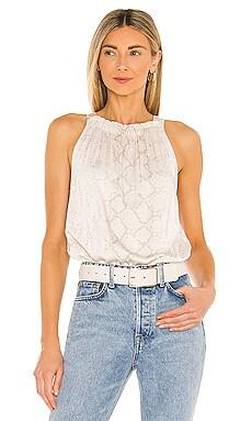 Shirred Tie Back Halter Top Bella Dahl $97 NEW