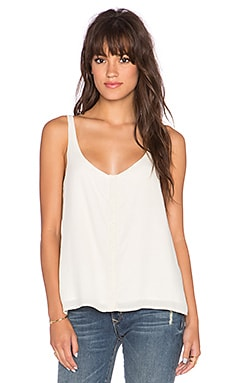 Bella Dahl Button Up Tank in Ivory Tusk