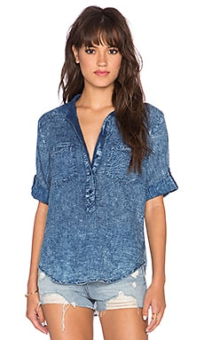 Bella Dahl Button Up Top in Distressed Check