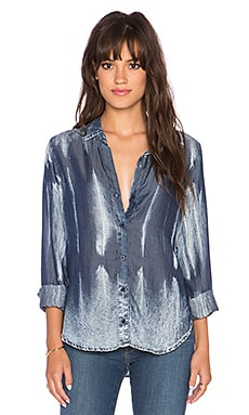 Bella Dahl Long Sleeve Button Up Top in Crystal Tie Dye