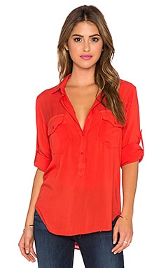 Bella Dahl Pocket Popover Top in Majestic Sunset