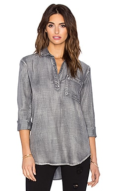 Bella Dahl Long Sleeve Pullover Tunic in Ice Wash