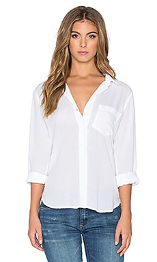 Bella Dahl Pocket Button Up in White