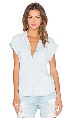 Bella Dahl Crossback Button Up Tank in Sunbleached