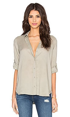Bella Dahl Roll Sleeve Button Up in Willow