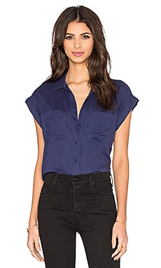 Bella Dahl Crossback Button Up in Navy