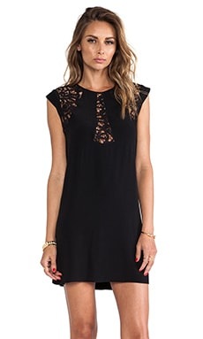 bless'ed are the meek Lace Foliage Dress in Black