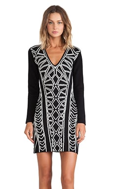 bless'ed are the meek Geometry Dress in Black & Ivory