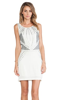 bless'ed are the meek Rhinestone Dress in Ivory