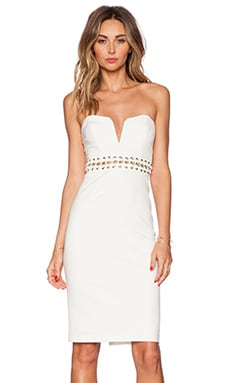 bless'ed are the meek Eternal Strapless Dress in Ivory