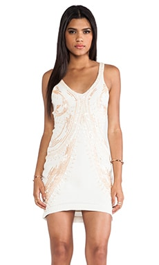 bless'ed are the meek Medusa Dress in Ivory & Nude