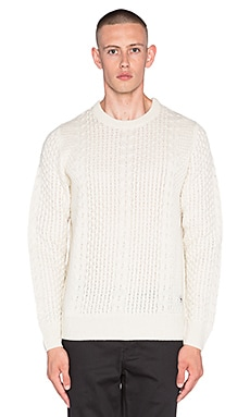Bellfield Laugar Sweater in Ecru