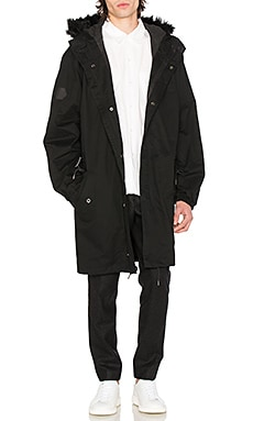 Delta Parka with Faux Fur Trim