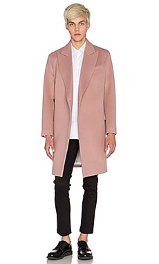 Blindness Wool Coat in Light Pink