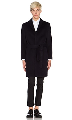 Blindness Wool Coat in Navy