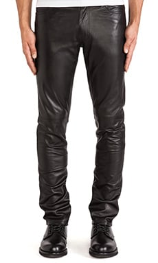 BLK DNM Leather Pant 25 in Black