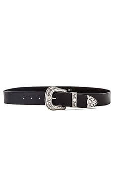 B-Low the Belt Frank Belt in Black & Silver