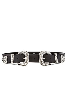 Bri Bri Waist Belt in Black & Silver
