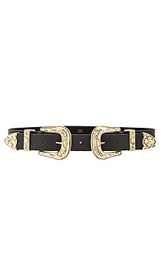 Bri Bri Waist Belt in Black & Gold