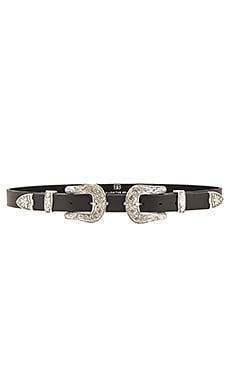 B-Low the Belt Baby Bri Bri Belt in Black & Silver