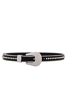 Barcelona Belt in Black & Silver