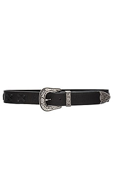 Frank Whip Belt in Black & Silver